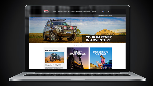New ARB 4X4 responsive website launched