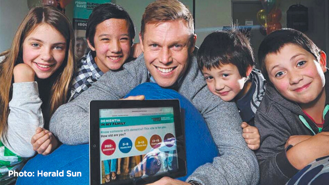 SAM MITCHELL LAUNCHES DEMENTIA WEBSITE FOR KIDS